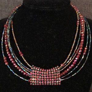 Jewelry - 6 strand choker necklace